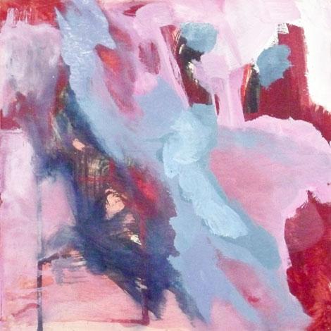 Antonio Molina: Una paloma Blanca, 30 x 30 cm, öljy vanerille, 2012