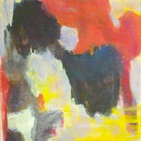 Thelonious Monk: Hornin'In, 30 x 30 cm, öljy ja tempera vanerille, 2012