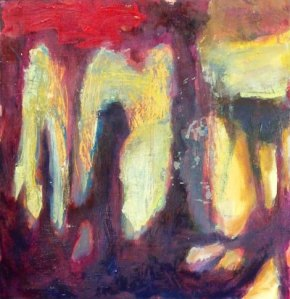 Esa-Pekka Salonen: Foreign Bodies, 30 x 30 cm, öljy ja tempera kankaalle, 2012