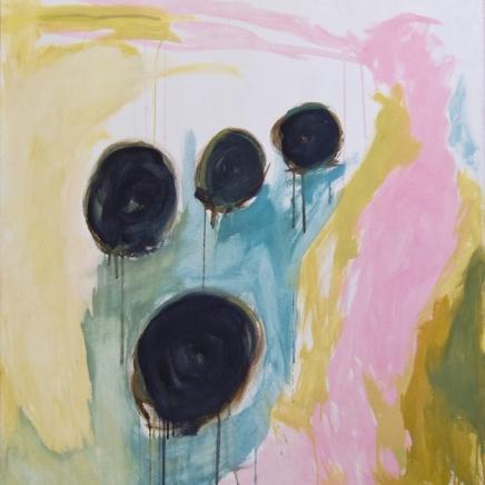 Työ nro 7, öljy ja tempera kankaalle, 92 x 110 cm, 201