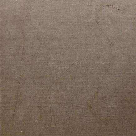 työ nro 4, jänisliima kankaalle, 92 x 110 cm, 2012