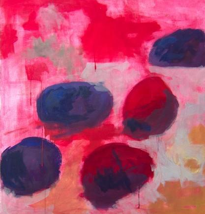 työ nro 1, tempera kankaalle, 93 x 105 cm, 2012