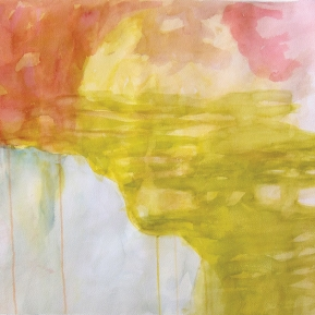 Unohtunut maisema, 45°N, 12°E, 56 x 76 cm, akvarelli, 2013