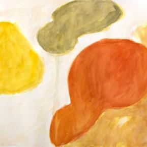 Unohtunut maisema, 62°N, 29°E, 56 x 76 cm, akvarelli paperille, 2013
