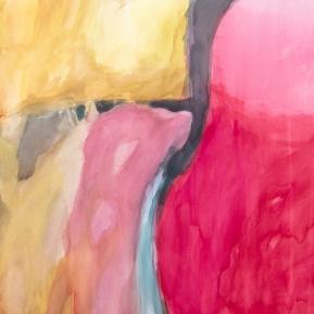 Unohtunut maisema, 60°N, 24°E,56 x 76 cm, akvarelli paperille, 2013