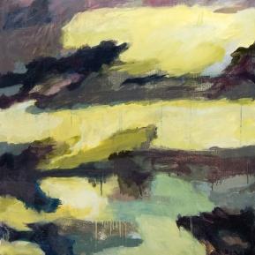 Kaiku I, tempera ja öljy kankaalle, 105 x 93 cm, 2013