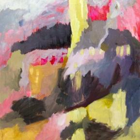 Säriseviä kiireisiä päiviä, öljy kankaalle, 105 x 93 cm, 2013